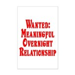 Wanted: Meaningful overnight Mini Poster Print