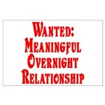 Wanted: Meaningful overnight Large Poster