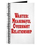 Wanted: Meaningful overnight Journal