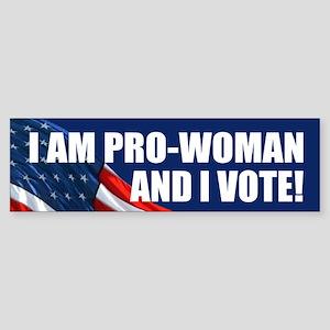 VOTE PRO-WOMAN: Bumper Sticker