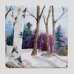Winter Woodland Tile Coaster