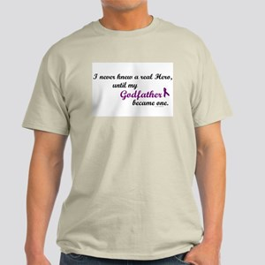 Never Knew A Hero GODFATHER (Purple) Light T-Shirt