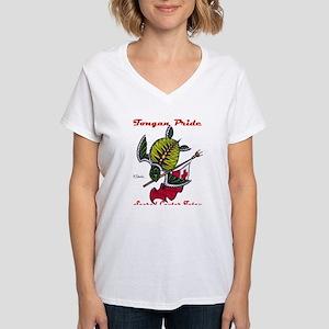 tongan pride Women's V-Neck T-Shirt