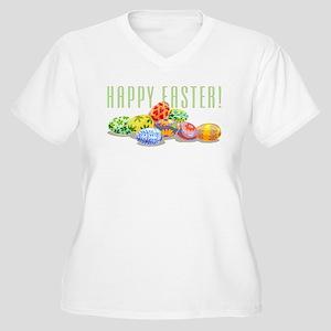 Happy Easter Women's Plus Size V-Neck T-Shirt