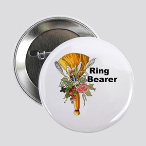 """Jumping the Broom Ring Bearer 2.25"""" Button"""