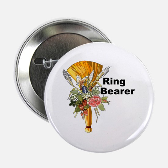 "Jumping the Broom Ring Bearer 2.25"" Button"