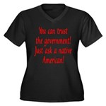 You can trust the government! Women's Plus Size V-