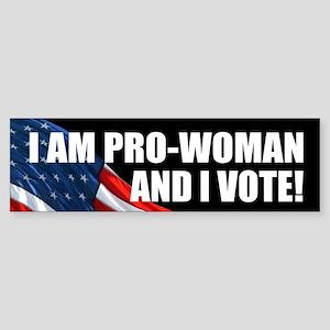 PRO-WOMAN: Bumper Sticker