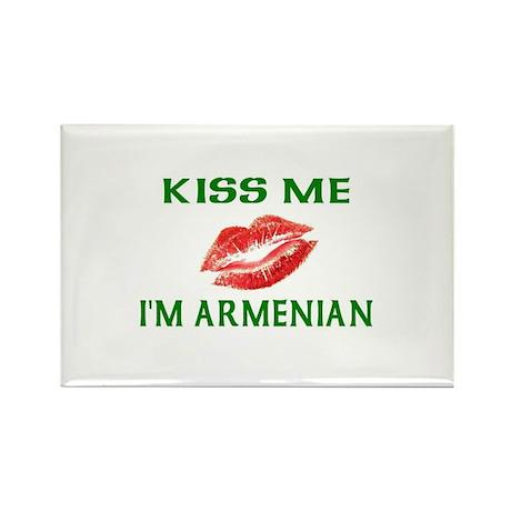 Kiss Me I'm Armenian Rectangle Magnet