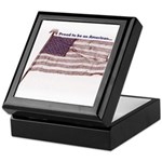 Proud to be an American... Keepsake Box