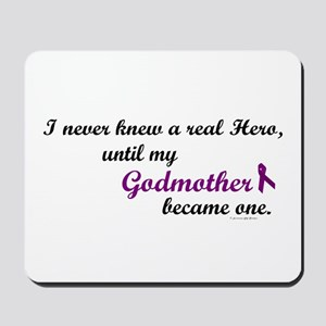 Never Knew A Hero GODMOTHER (Purple) Mousepad