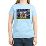 Starry Night / 2Chinese Crest Women's Light T-Shir
