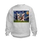 Starry Night / 2Chinese Crest Kids Sweatshirt