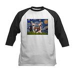 Starry Night / 2Chinese Crest Kids Baseball Jersey