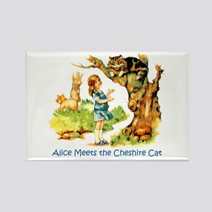 ALICE MEETS THE CHESHIRE CAT Rectangle Magnet
