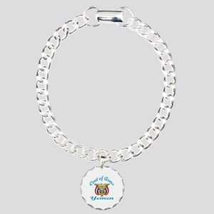 Cat Of Arms Yemen Countr Charm Bracelet, One Charm