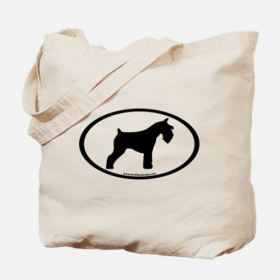 Mini Schnauzer Oval Tote Bag
