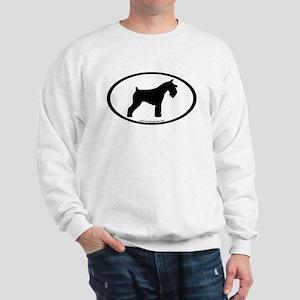 Mini Schnauzer Oval Sweatshirt