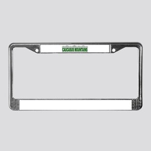 Caucasus Mountains License Plate Frame