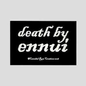 Death By Ennui/black Rectangle Magnet