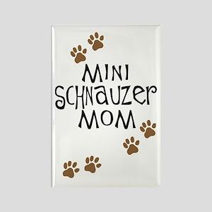 Mini Schnauzer Mom Rectangle Magnet