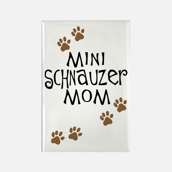 Mini Schnauzer Mom Rectangle Magnet