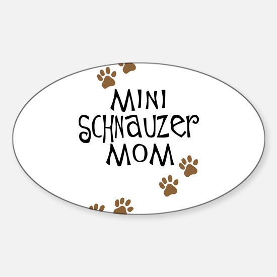 Mini Schnauzer Mom Oval Decal