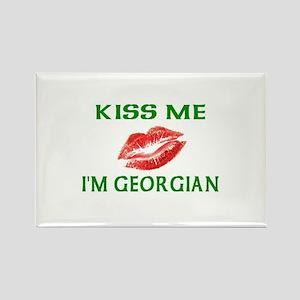 Kiss Me I'm Georgian Rectangle Magnet