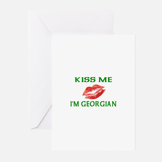 Kiss Me I'm Georgian Greeting Cards (Pk of 10)