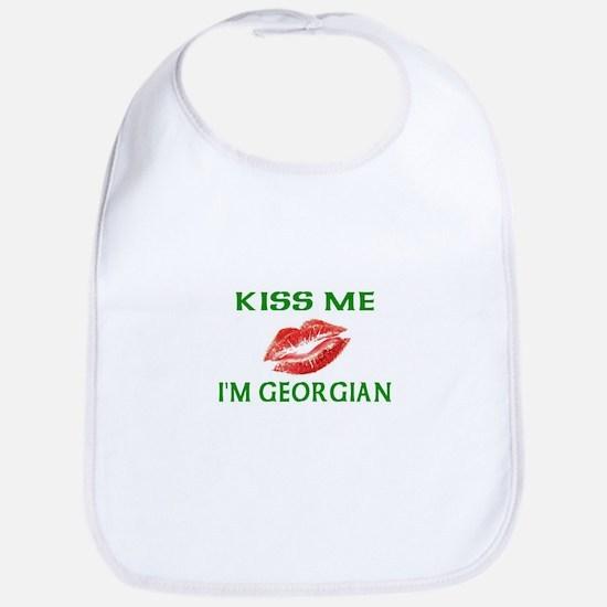 Kiss Me I'm Georgian Bib