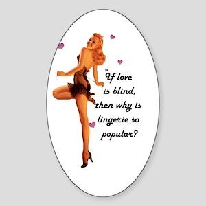 Lingerie Lover Oval Sticker