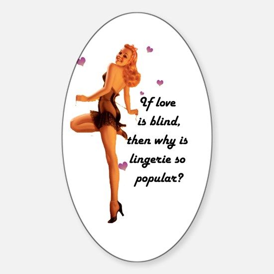 Lingerie Lover Oval Decal