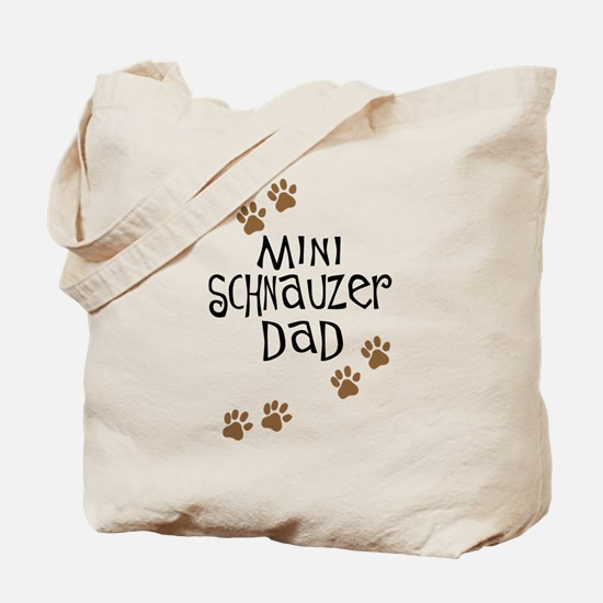 Mini Schnauzer Dad Tote Bag