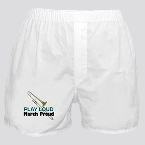 Play Loud March Proud Trombone Boxer Shorts