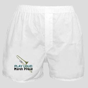 Play Loud March Proud Trombone Boxer Shorts