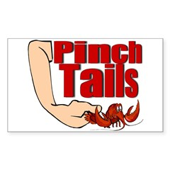 Pinch Tails Rectangle Decal
