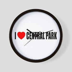 I Love Central Park Wall Clock