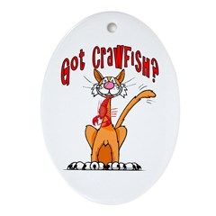 Got Crawfish? Oval Ornament