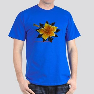 hybiscus with iban sun Dark T-Shirt