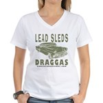 Lead Sleds in Green Women's V-Neck T-Shirt