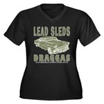 Lead Sleds in Green Women's Plus Size V-Neck Dark