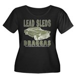 Lead Sleds in Green Women's Plus Size Scoop Neck D