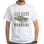 Lead Sleds in Green White T-Shirt