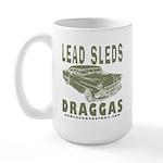 Lead Sleds in Green Large Mug