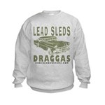 Lead Sleds in Green Kids Sweatshirt