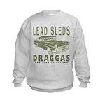 Lead Sleds in Green Kids Sweatshirt