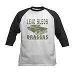 Lead Sleds in Green Kids Baseball Jersey