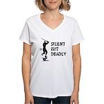 Silent But Deadly Women's V-Neck T-Shirt