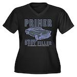 equal parts Women's Plus Size V-Neck Dark T-Shirt