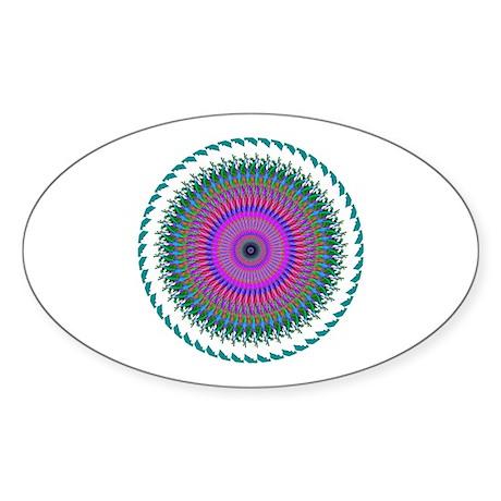 Kaleidoscope 006 Oval Sticker